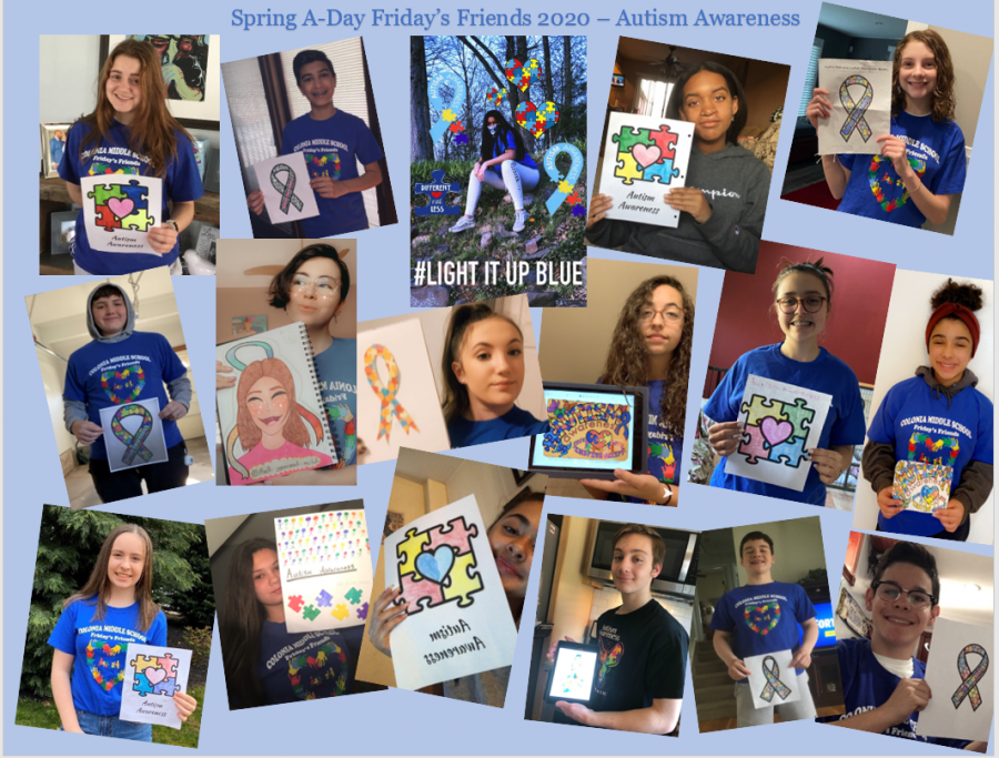 CMS Friday's Friends show their support for Autism Awareness
