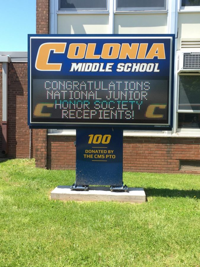 Colonia Middle School Sign