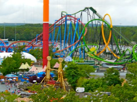 Other rides at Six Flags Great Adventure.
